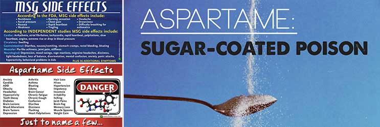 Dangers of MSG and Aspartame