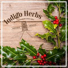 Christmas Holly on Wood