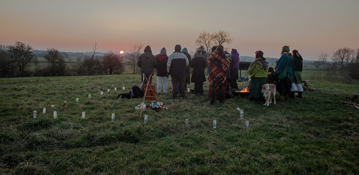 Imbolc Ceremony Brides Mound