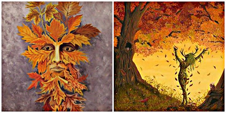Autumn Greenman and Goddess