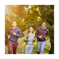 Healthy People Running
