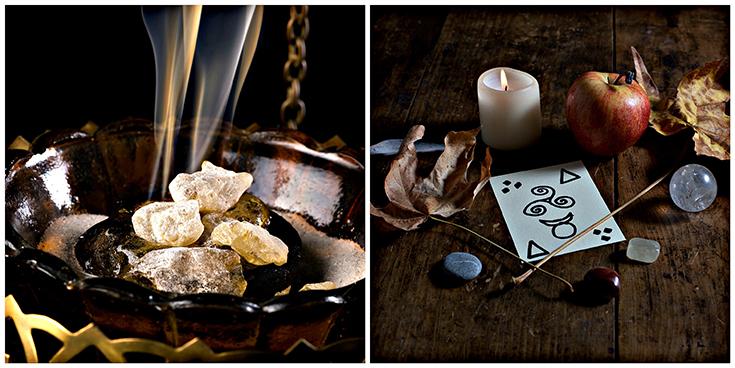 Incense burning, Autumn Equinox Altar