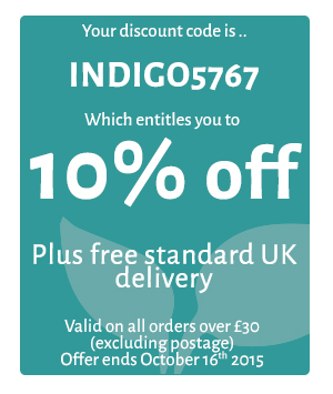 Indigo Herbs - 10% Discount Code - 5767 - Available on of £30 or more until October 16 2015