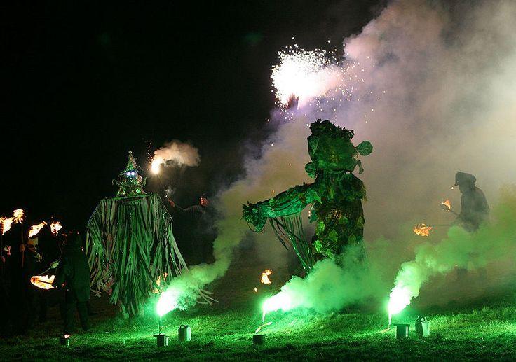 Jack Frost battles the Green Man