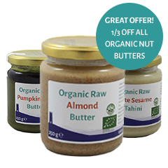 1/3 OFF all Organic Nut Butters Until December 12th