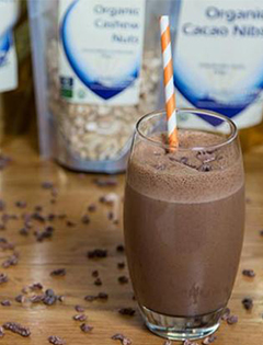 Try The Raw Choc & Almond Breakfast Smoothie