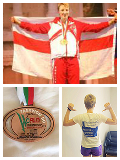 Indigo Herb Sponsored Athlete Sam Taylor wins bronze at the Taekwando World Championships