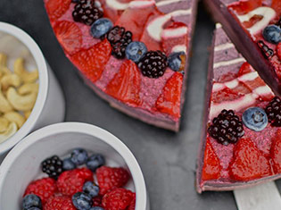 Mellow Berry Raw Cheesecake