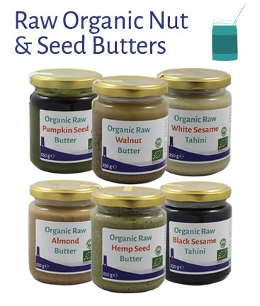 Organic Raw Nut and Seed Butters
