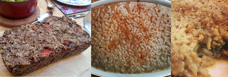 Lentil Loaf and Rice Pudding - Vegan