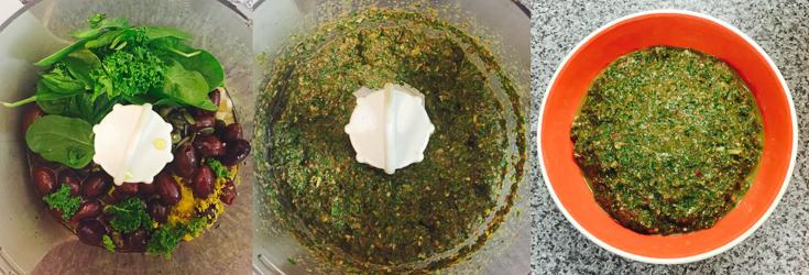 Kale and Kalamata Olive Tapanade - Veganuary