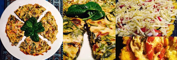 Vegan Omelette and Vegan Pizza