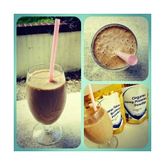 Coffee, Banana & Hemp Protein Frappe