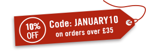 January Sale 10% off over £35 (Use code: JANUARY10)