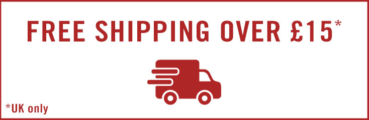 Free Shipping on UK orders over £15