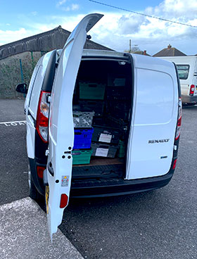 Our Electric Van open back picture
