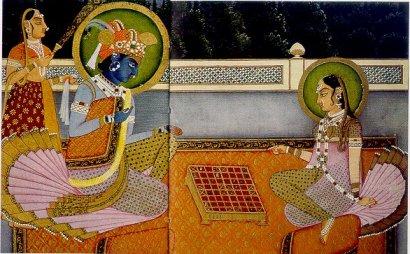 Krishna Playing Chess